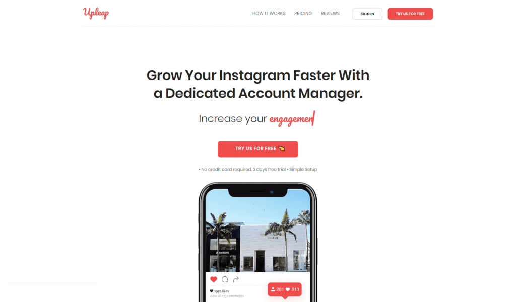 Upleap is a new Instagram Hack