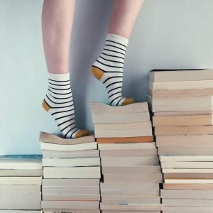 books and socks for instagram campaign