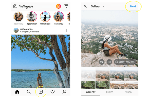It's easy to add Instagram filters to your posts.