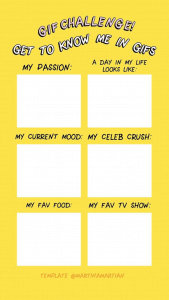 A gif challenge instagram story template
