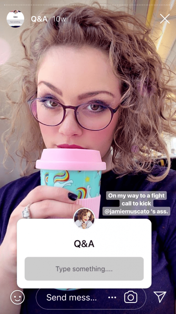 The first post of a Q&A from @carriehopefletcher's Instagram