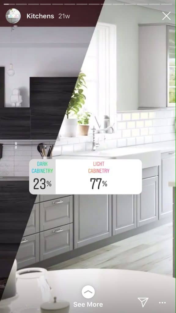 Ikea asks, Dark or Light Cabinetry?