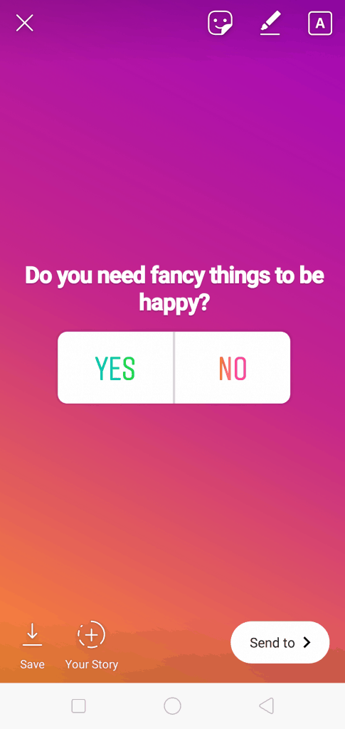 Instagram Poll- Yes or No