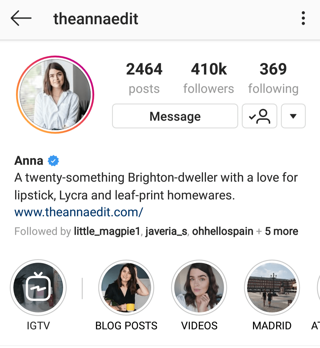 @theannaedit has great Instagram bio ideas to attract ideal followers.