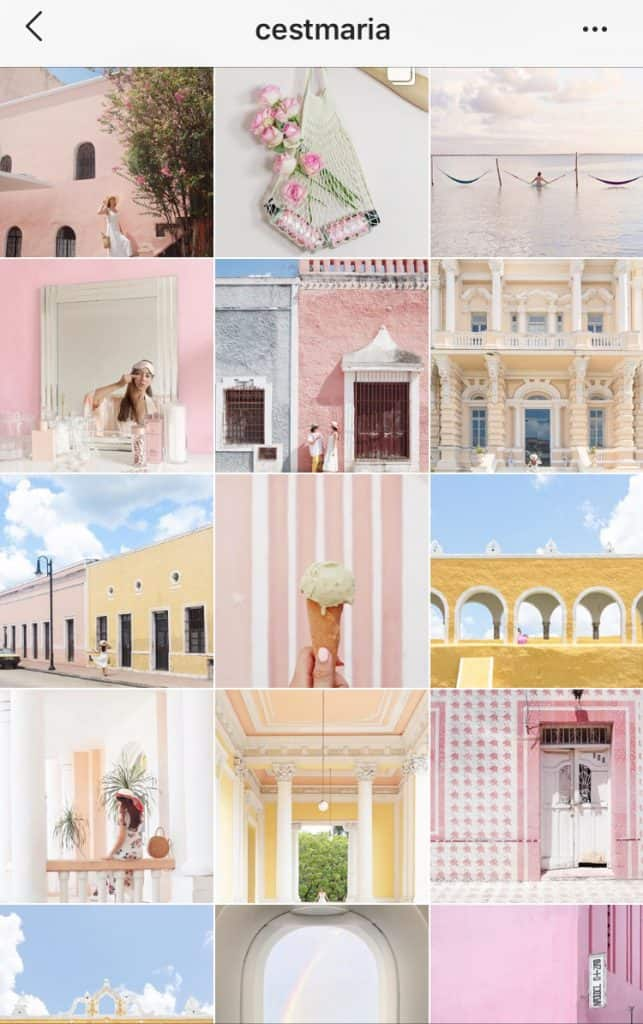 soft pastel instagram feed
