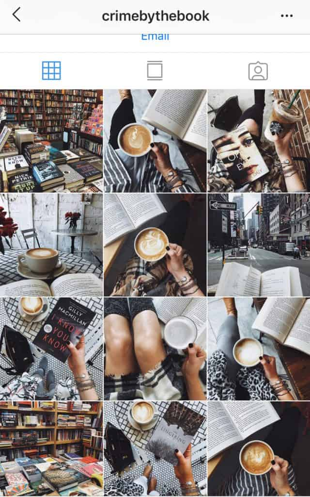 Book and coffee instagram feed