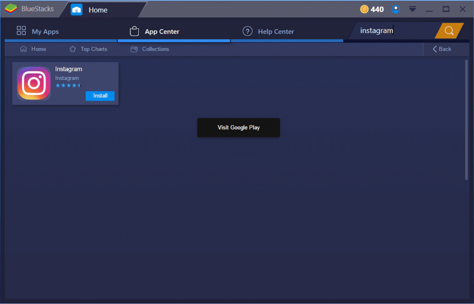 Screenshot of the Bluestacks tool