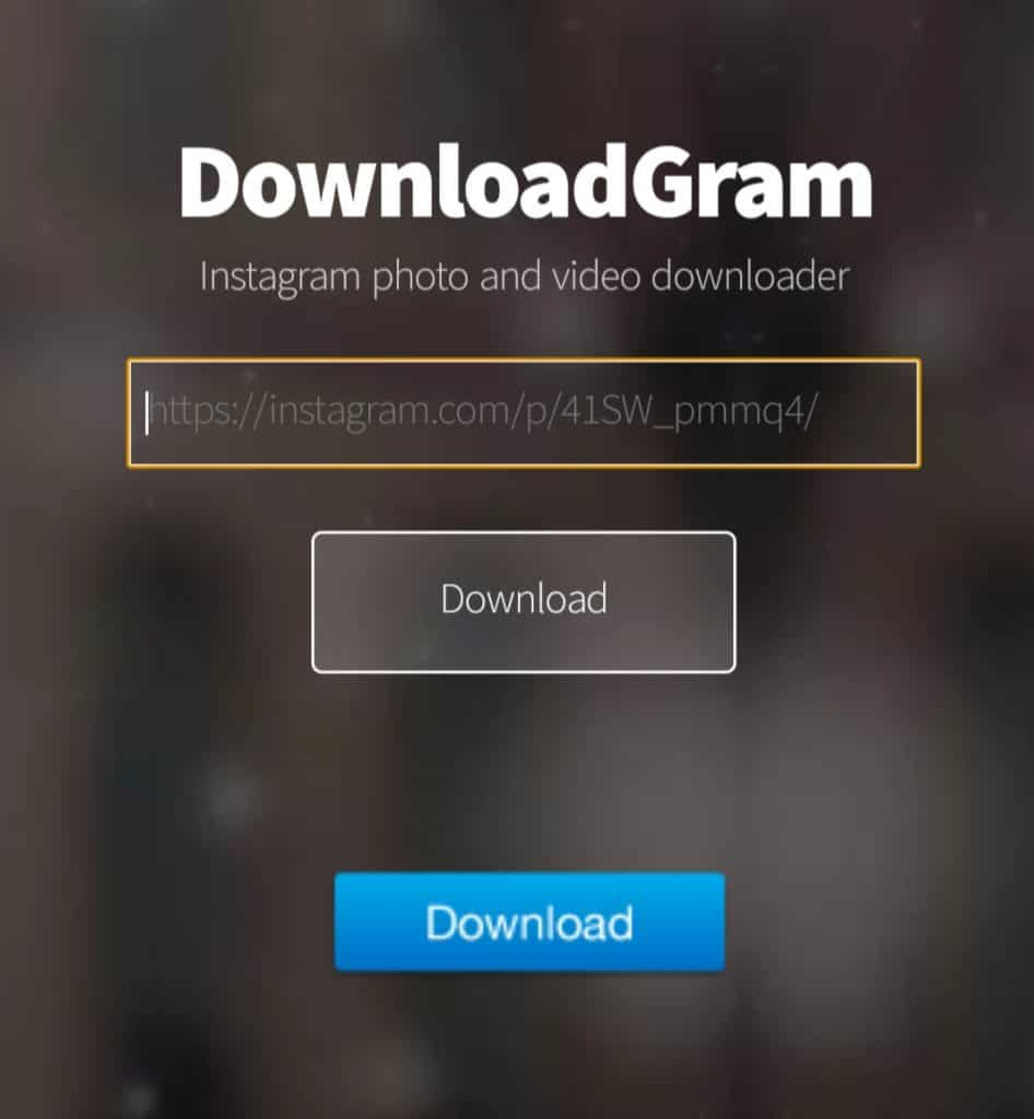 DownloadGram to download Instagram Photos