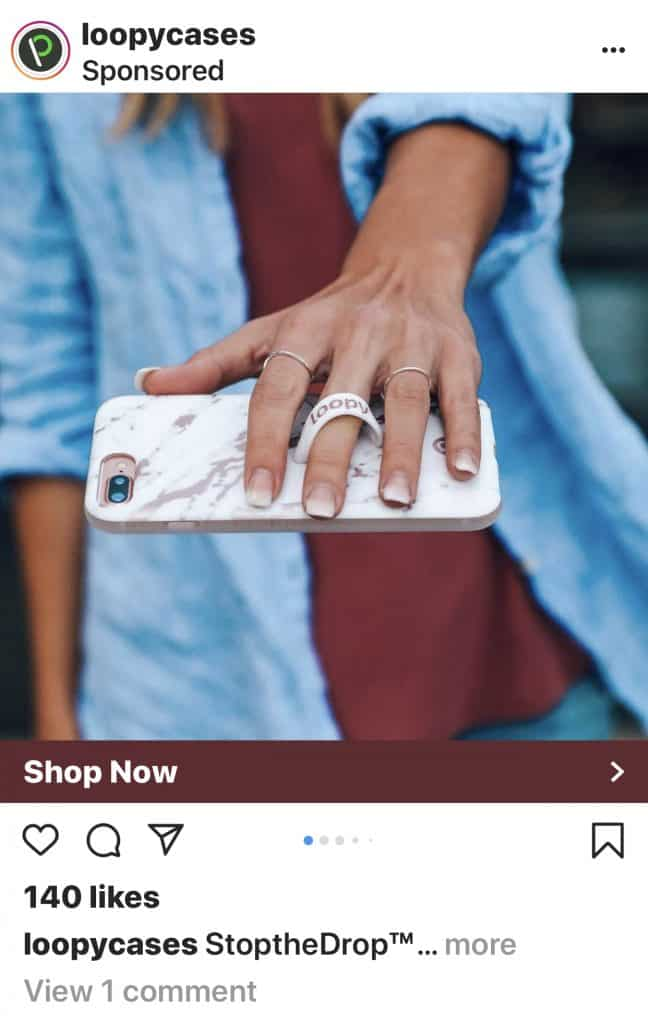 Instagram Ad of a new IPhone Case