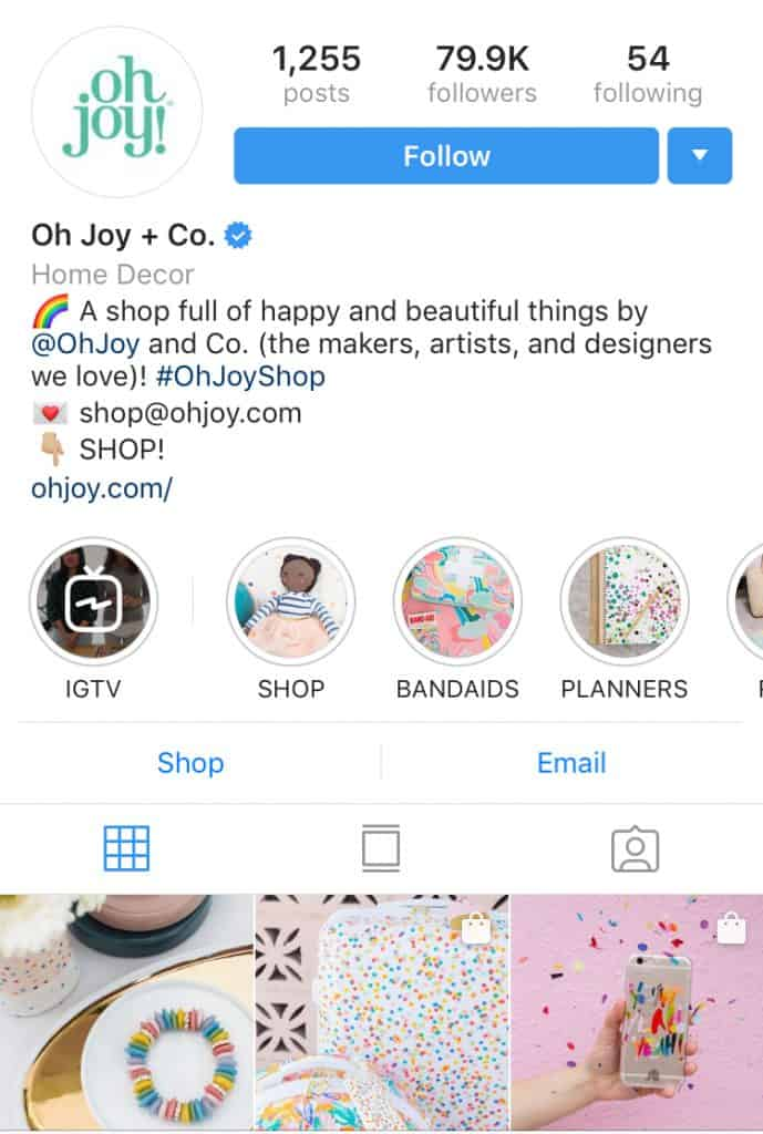 An Instagram Business Account