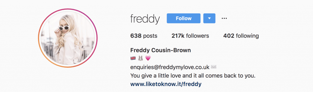 The Instagram profile picture of Freddy Cousin-Brown