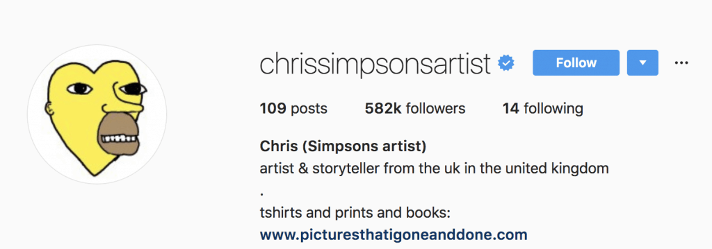 Chris Simpson's Instagram Profile Picture