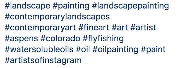 Instagram art Hashtags