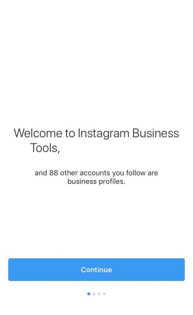 switch to instagram business account