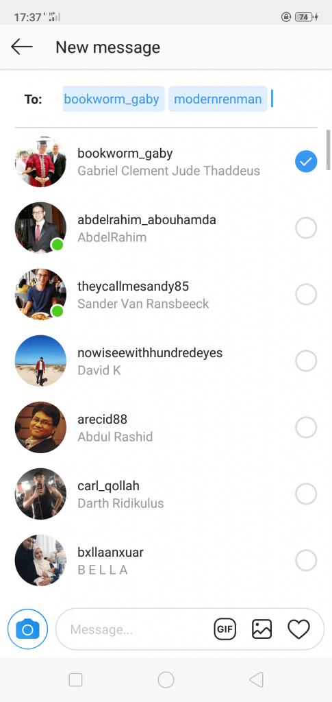 Create Instagram Group DM