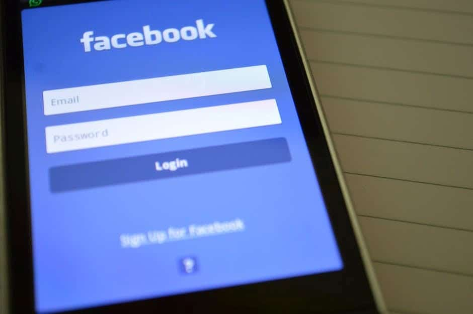 Image of a phone using the Facebook app