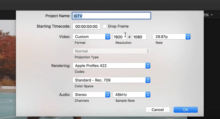 Screenshot of Final Cut Pro