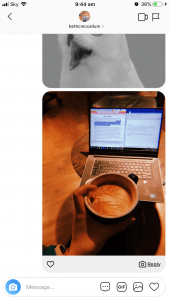 Chai Latte And Laptop