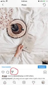 Book With Bottle Flowers And Wood On Instagram