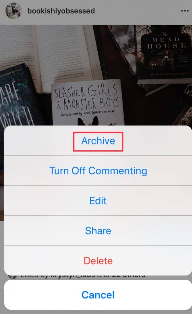 Step 1: How to archive a post