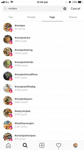 Recipe Hashtag Instagram