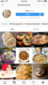 Food And Recipes On Instagram