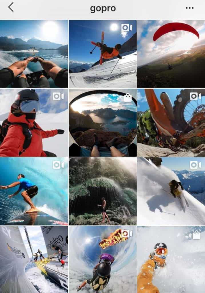 GoPro instagram aesthetic sample