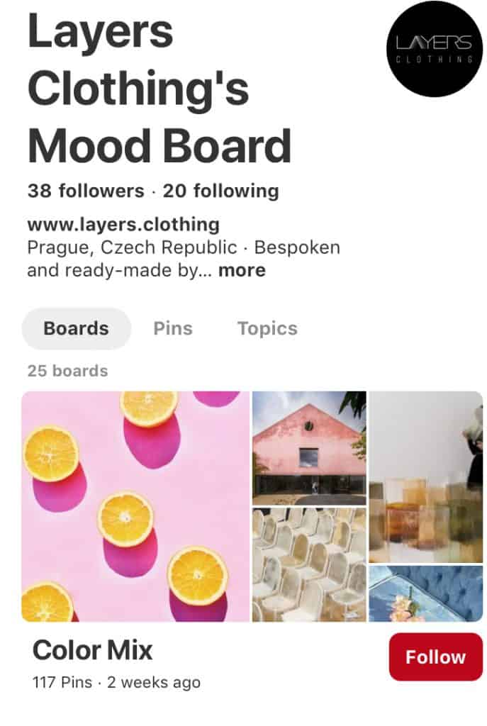 Layers clothing Mood board