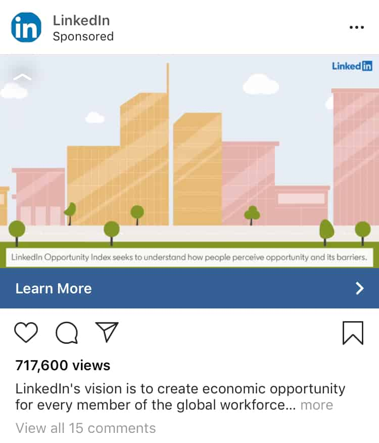 Instagram sponsored ad
