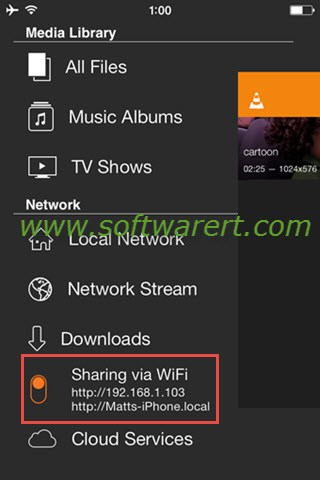 VLC Sharing Via Wi-fi
