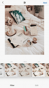 Editing On Instagram A Photo Of Books On Bed