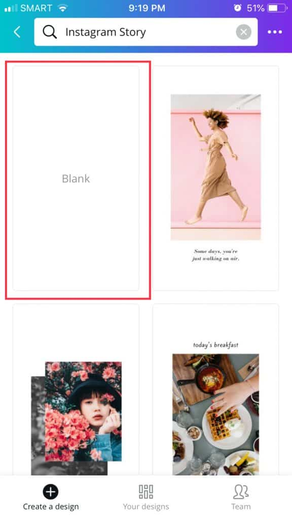 How to use Canva Step 2