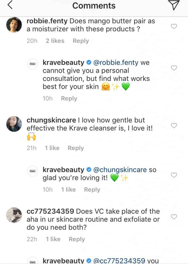 KraveBeauty engaging with the audience