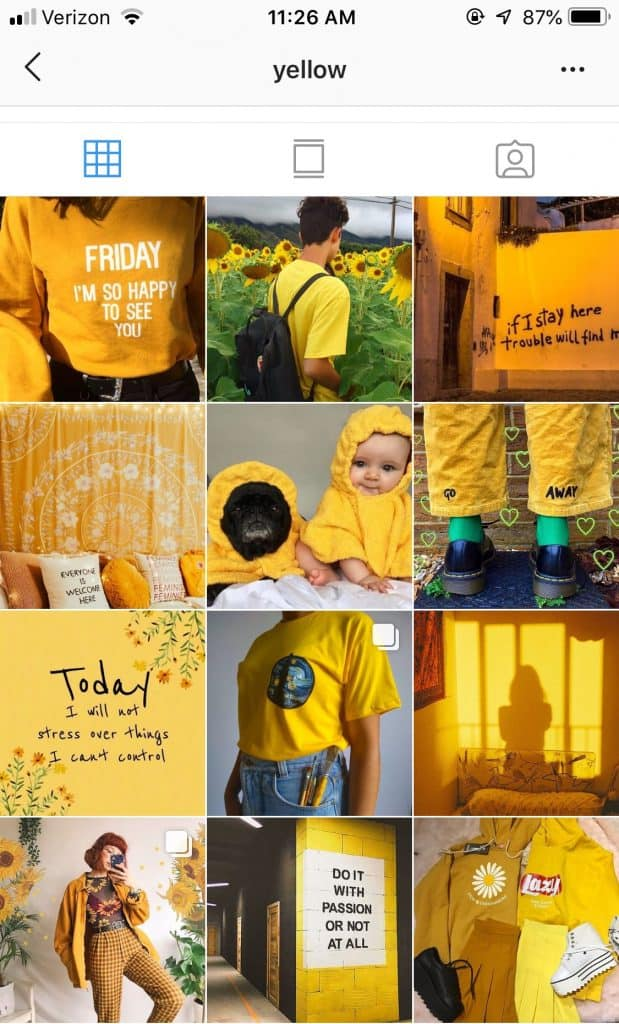 Beautiful use of one color @yellow