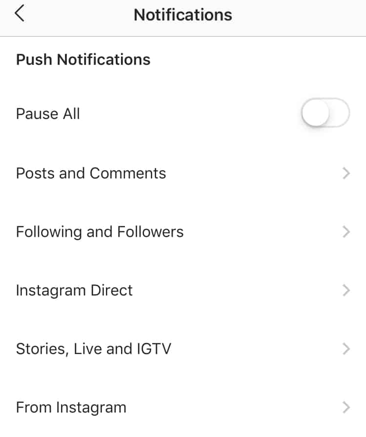 Turn off notification step 3