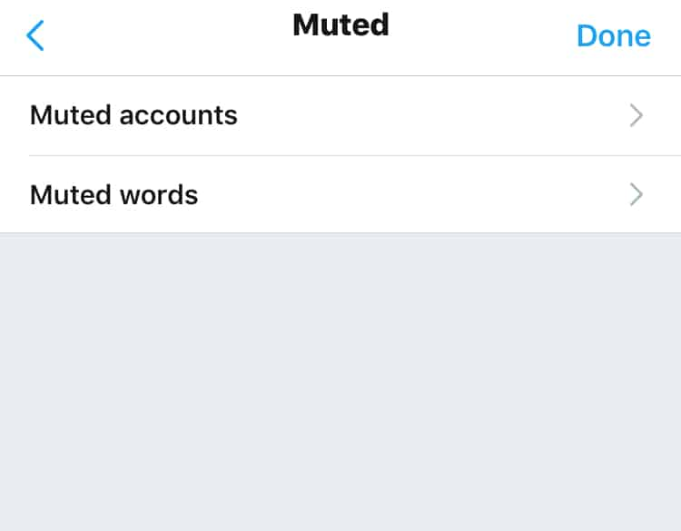 How To Mute Keywords on Twitter Step 4