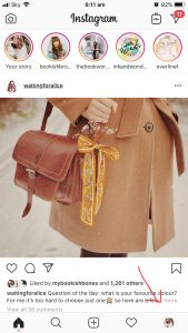 Instagram Home Screenshot of Girl In Brown Jacket Carrying A Brown Bag