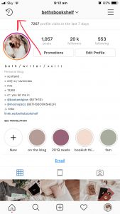 Screenshot Of Instagram Profile With Arrow Pointing To Archive Icon