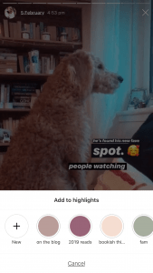 Screenshot of Adding Instagram Story To Highlights