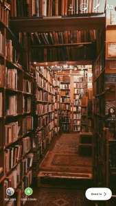 Book Shop Photo Cropped For Instagram Story