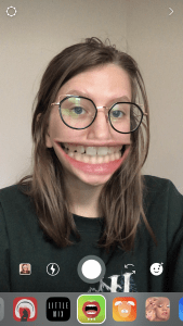 Giant Mouth Face Filter Instagram