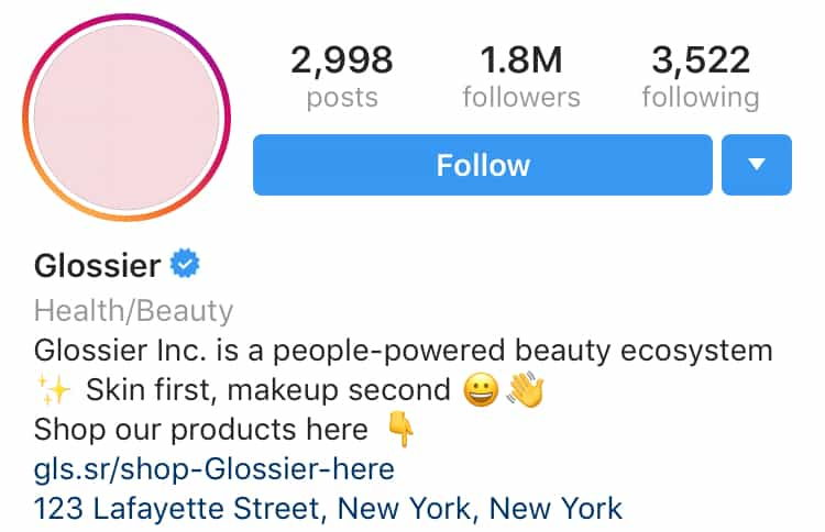 how to create a brand Glossier sample
