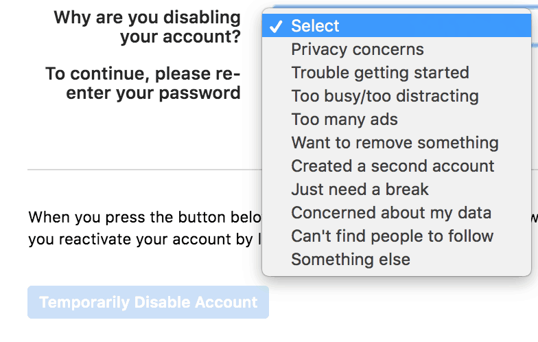 Why are you disabling your Instagram account?