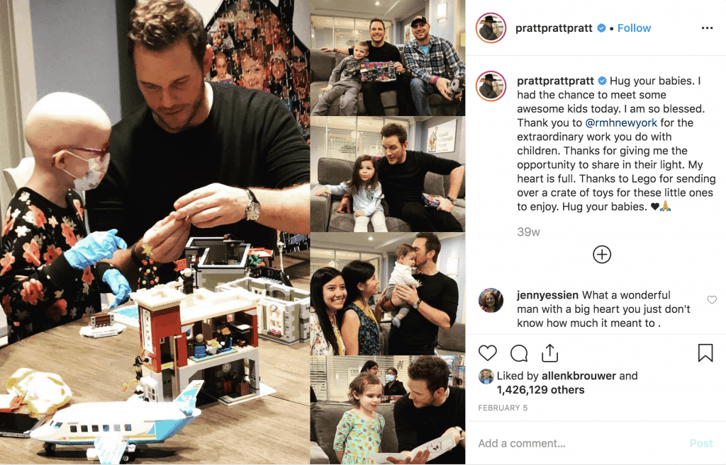 Chris Pratt at the Ronald McDonald House New York