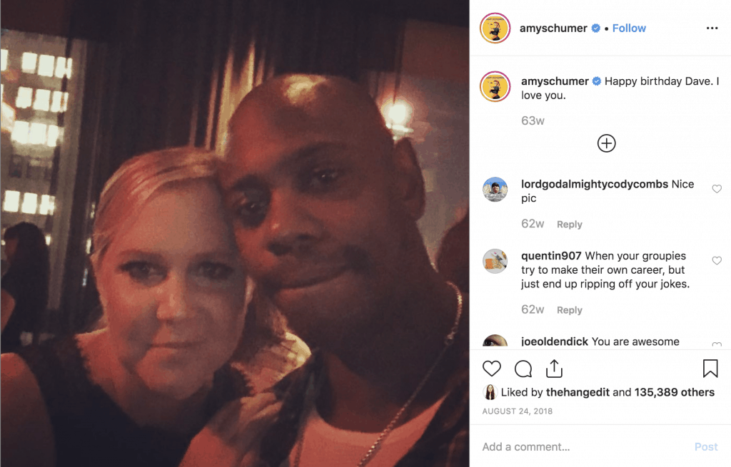Amy Schumer and Dave Chappelle