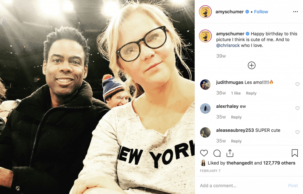 Amy Schumer wishes Chris Rock a happy birthday