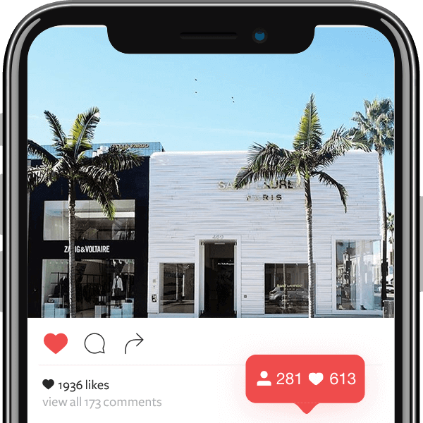 Mobile view of Instagram user interface to get more followers