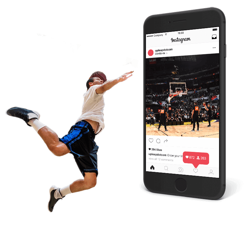 An athlete growing their Instagram faster with Upleap