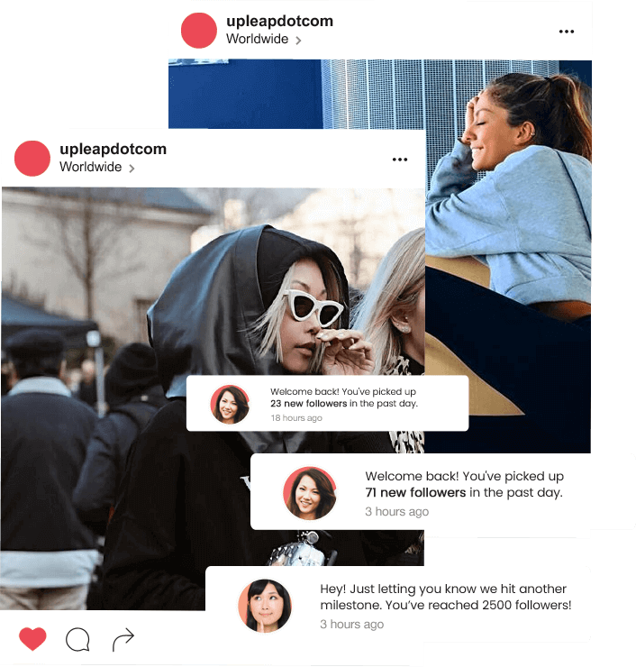 instagram models using Upleap