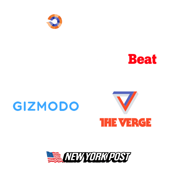 Logos of companies that featured Upleap